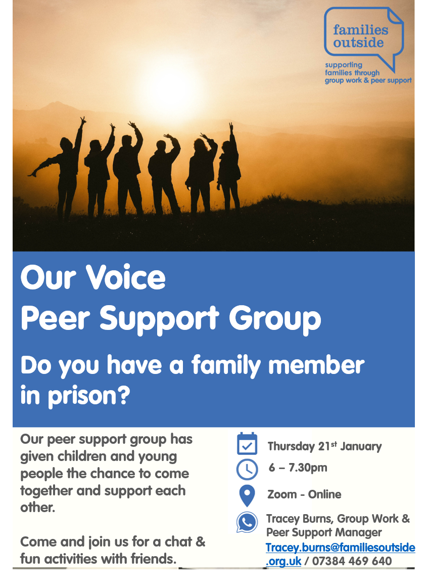 January Peer Support Group - Our Voice